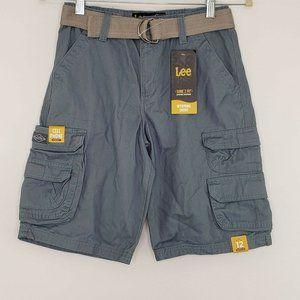 LEE Wyoming NWT Boys Blue Cargo Shorts 12